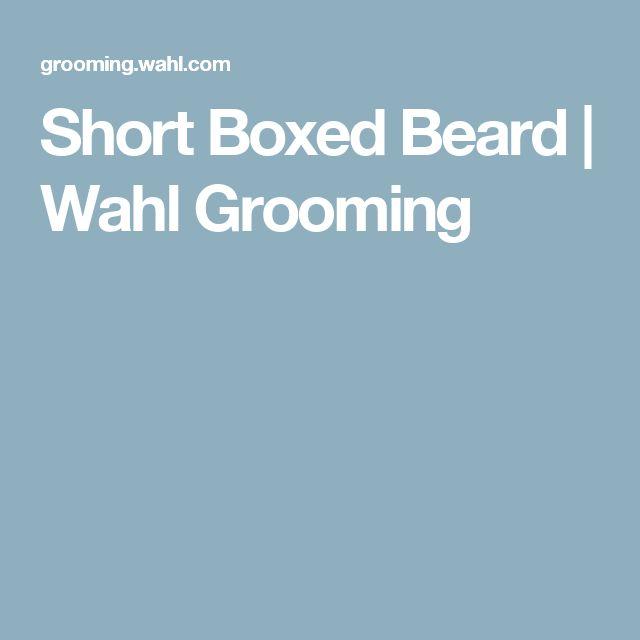 Short Boxed Beard | Wahl Grooming