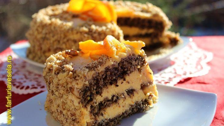 Tort cu blat de albusuri si crema fina de portocale