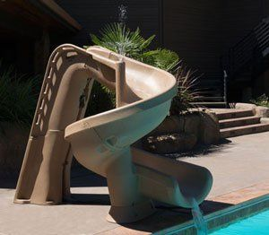 The HeliX Slide for In-Ground Pools ─ In the Swim Pool Supplies