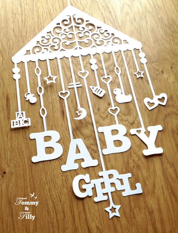 Papercut Template -  'Baby Mobile' 3 different by Tommy and Tilly Design on Etsy