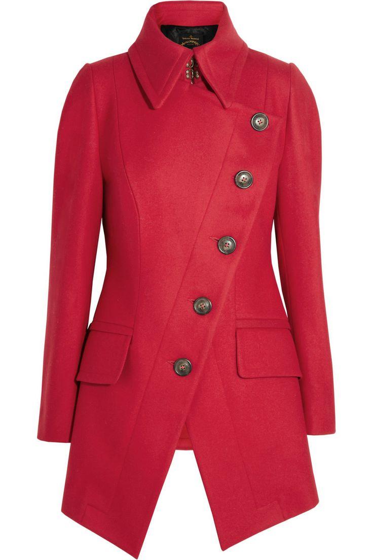 Vivienne Westwood Anglomania | Cloud wool-blend felt asymmetric coat | NET-A-PORTER.COM