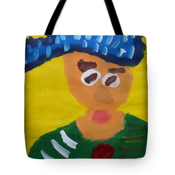 Patrick Francis - Tote Bag featuring the painting Portrait Of Camille Roulin 2015 - After Vincent Van Gogh by Patrick Francis