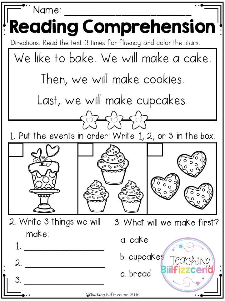 1000 ideas about Free Reading Comprehension Worksheets on – Kindergarten Sequence Worksheets