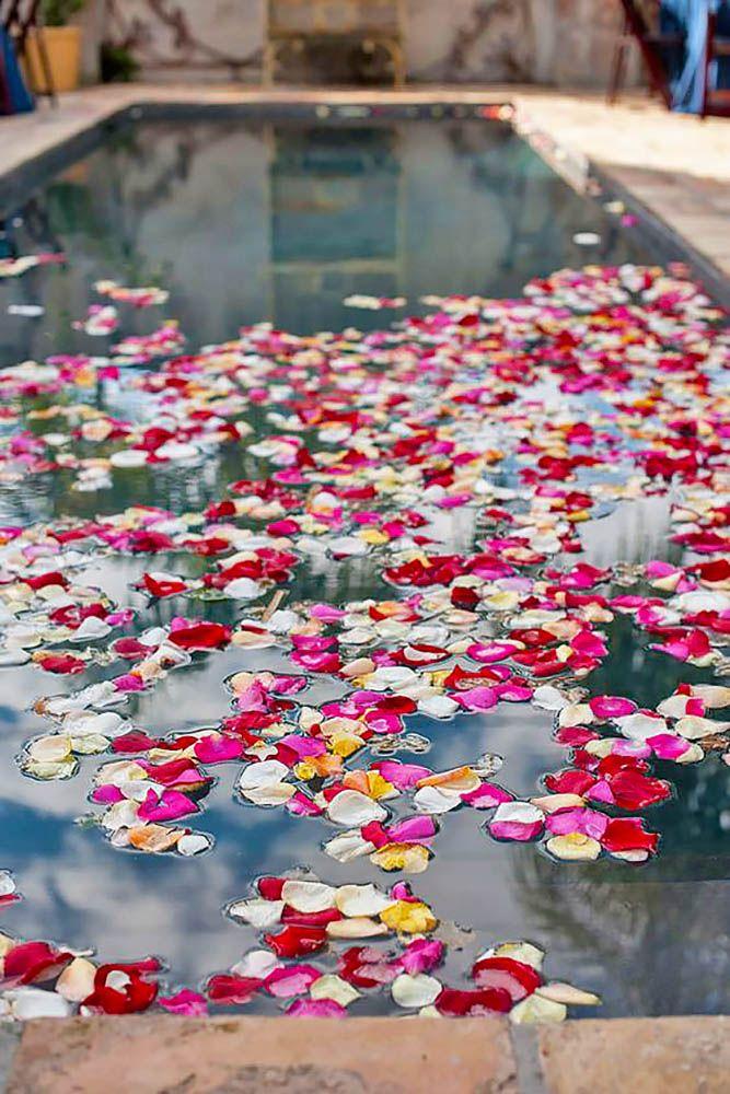 Pool Decor Ideas For Your Backyard Wedding ❤ See more: http://www.weddingforward.com/wedding-pool-party-decoration-ideas/ #weddings