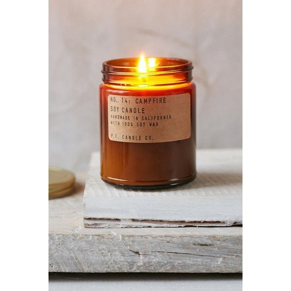 Candle co amber jar soy candle featuring polyvore home home decor