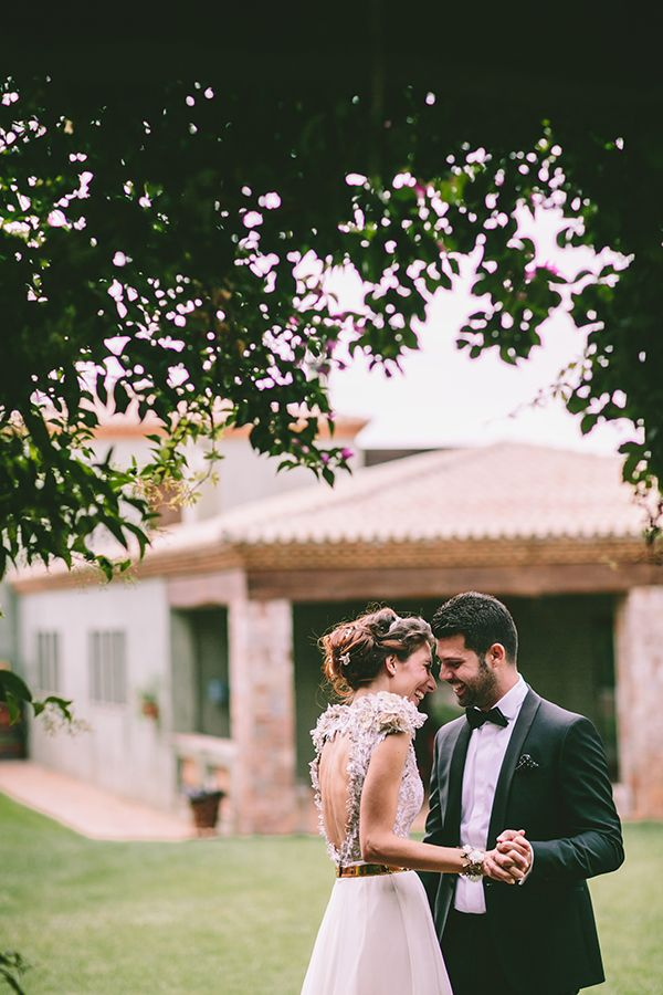 I am officially obsessed with this Ourania Kay wedding dress and all the stylish and as green as possible details from this eco-friendly wedding! A lovely affair on a breathtaking location just on the outskirts of Athens, Greece. Enjoy with all your heart every single  jaw-dropping image captured by George Pahountis! See more here http://www.love4wed.com/chic-eco-friendly-wedding/  #ouraniakay #openbackweddingdress #ecofriendlywedding