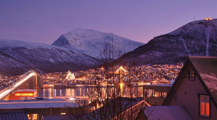 Early afternoon Polar Night in Tromsø Norway   fun funny funny pics
