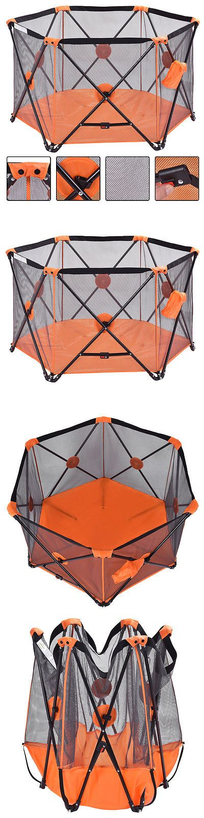 Playpens and Play Yards 2988: Orange Baby Playpen Playard Portable Folding Outdoor Indoor Safety Free Standing -> BUY IT NOW ONLY: $56.99 on eBay!