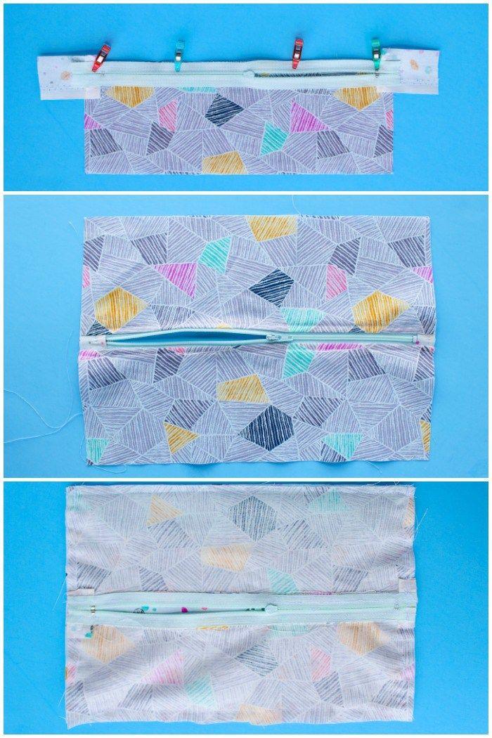 How To Sew A Zipper 3 Ways Sew Zipper Zipper Tutorial Sewing Patterns