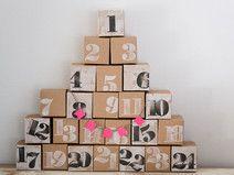 24 Adventskalender Boxen zum Befüllen