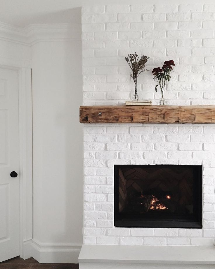 White Brick Fireplace Home Fireplace Brick Fireplace Diy Fireplace