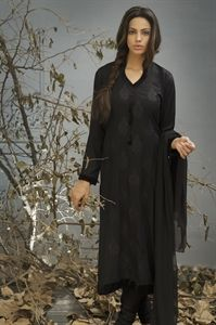 Olive Black Suit with Churidar