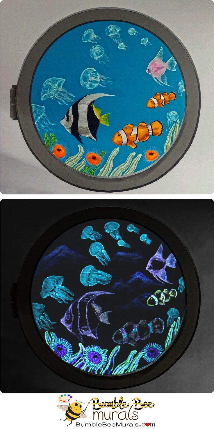 48 best glow in the dark murals images on pinterest for Bumble bee mural