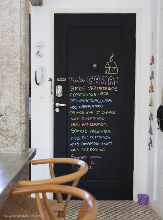 cute blackboard door (porta de lousa)