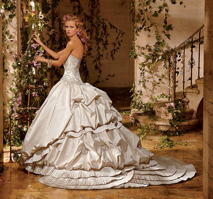 Current eve of milady bustle period inspired wedding gown for Period style wedding dresses