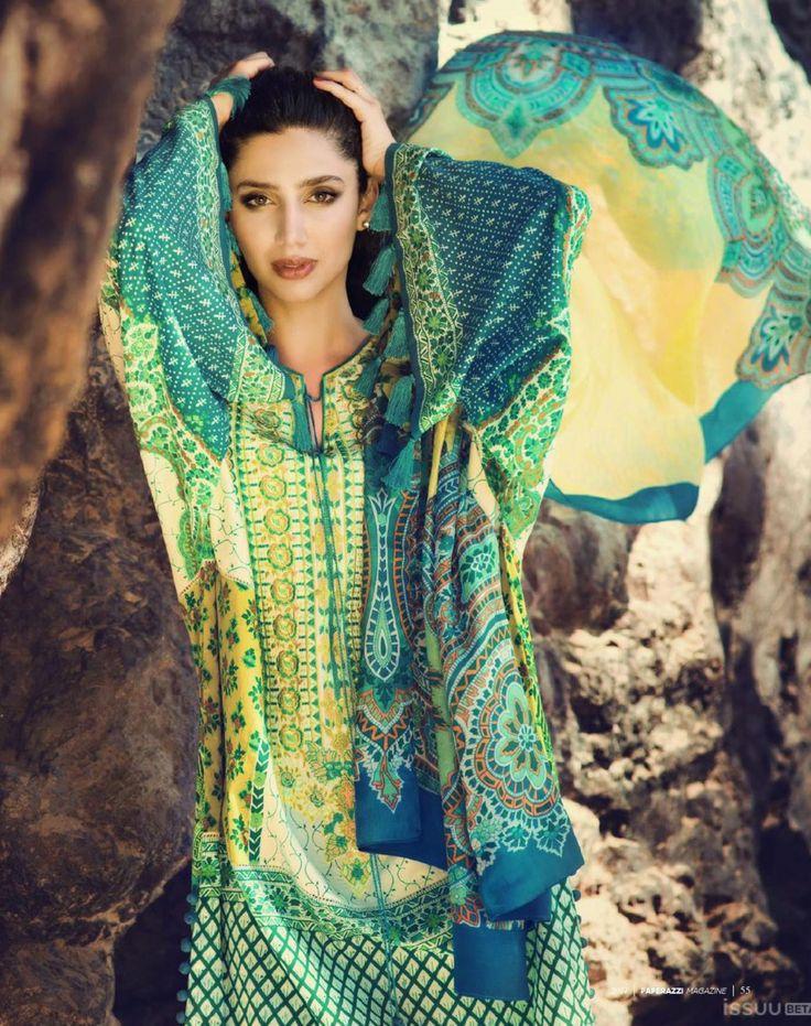 Pakistan fashion. Mahira Khan, Face of Elan Lawn.