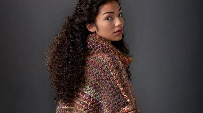 Crochet Tweed Under Wraps Poncho