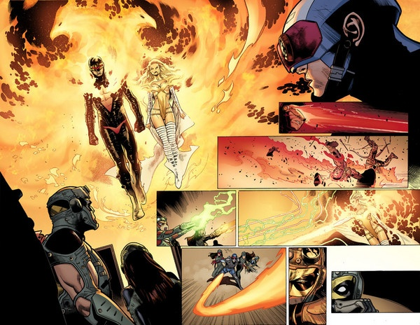 Avengers vs. X-Men #6 (2012) #examinercom #marvelcomics: Anteprima Comic, Coipel Phoenixfi, Comic Books, Comic Comics, Avengers Versus, Olivier Coipel, Books Examination, Action Art, Books Resources