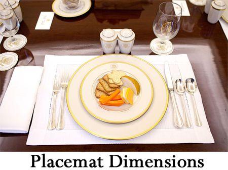 Placemat Dimensions
