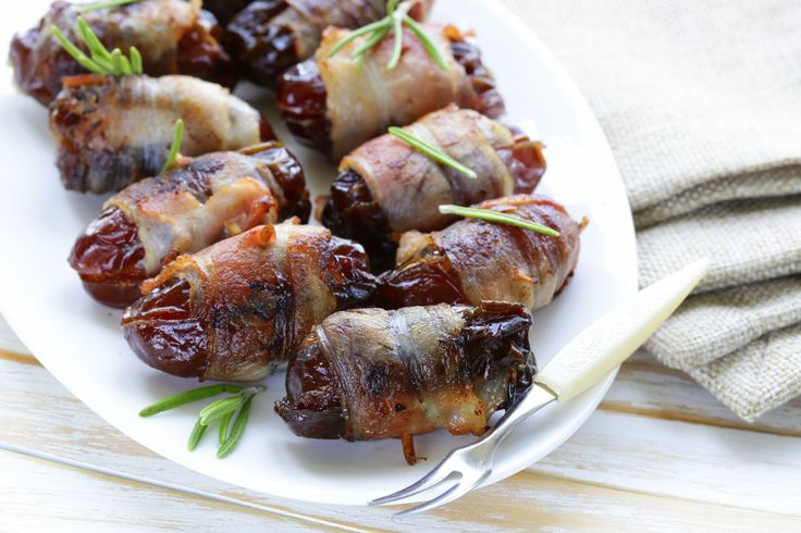 Appetizer Recipe: Bacon-Wrapped & Blue Cheese-Stuffed Dates  Blue Cheese and Bacon, has to be delish!