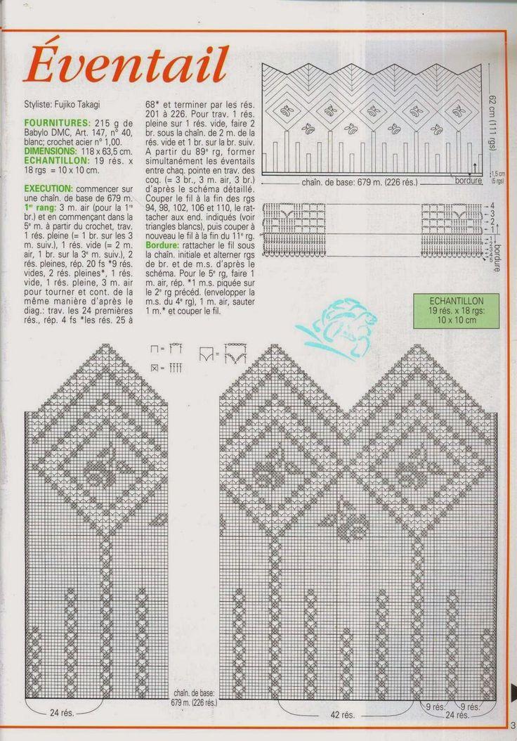Continuando com a série de postagens sobre cortinas em Crochê, hoje trouxe uma revista completa:                                           ...