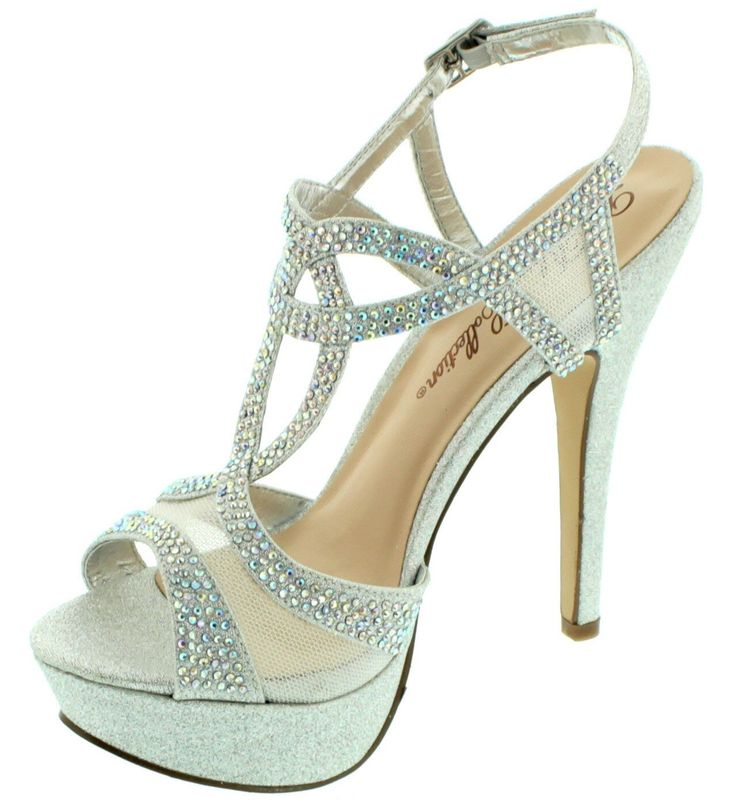 Vice-241 Women's Strappy Shimmer Mesh Formal Rhinestone Embellished Heeled Sandal Silver 6.5. ELEGANT DETAILS: Vice-241 features high quality shimmer material and genuine A/B rhinestone crystal embellishments. SPECIAL OCCASION: This strappy high heel shoe is ideal for weddings, prom, birthdays, formal dinners, and more. EUROPEAN DESIGN: Laser cut details, sexy details, and durable construction. PROVEN CONSTRUCTION: Dance the night away in our stable, comfortable designs. HASSLE FREE: Easy…