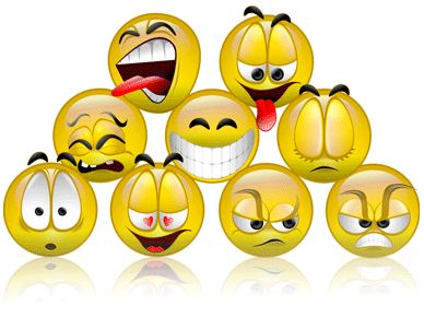 The Various types of Emoticons (emotions)