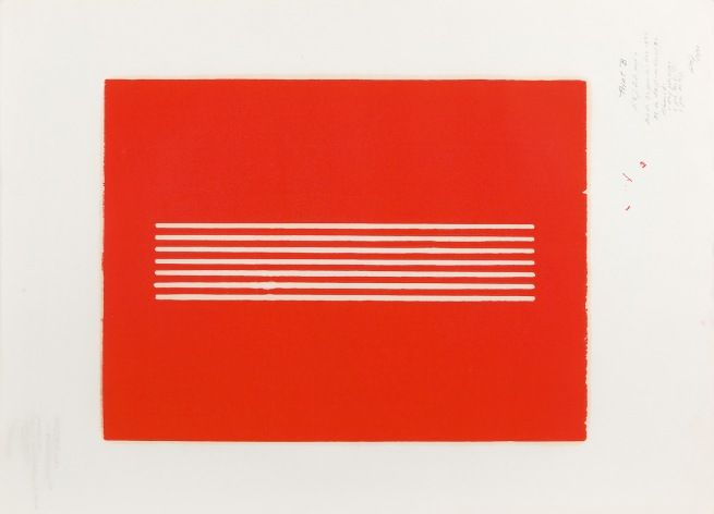 Donald Judd  Untitled  1962  Woodcut on paper, trial proof