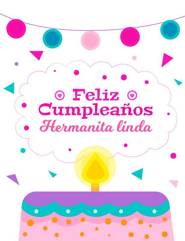 Linda Imagen De Cumpleanos Feliz Para Mi Hermana Cards Card