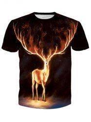 SHARE & Get it FREE | Round Neck 3D Flame Elk Print Short Sleeve Men's T-ShirtFor Fashion Lovers only:80,000+ Items • New Arrivals Daily • Affordable Casual to Chic for Every Occasion Join Sammydress: Get YOUR $50 NOW!