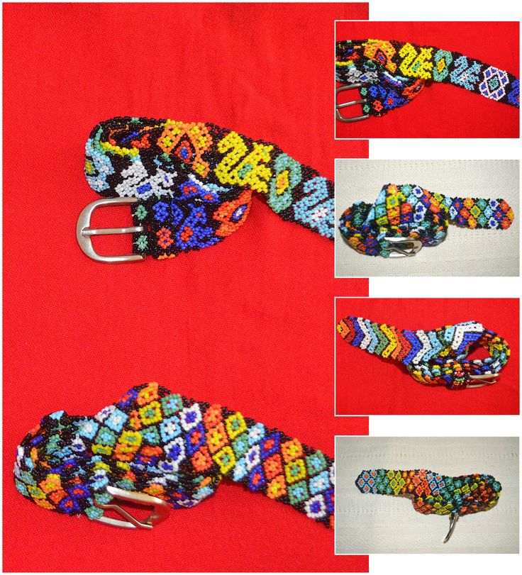 Cinturón artesanal Mexicano con material en Chaquira en diversos colores. Arte Huichol. $ 35.00 cada uno. Mexican craft belt with beads  material in many colors. Huichol art. $ 35 each.