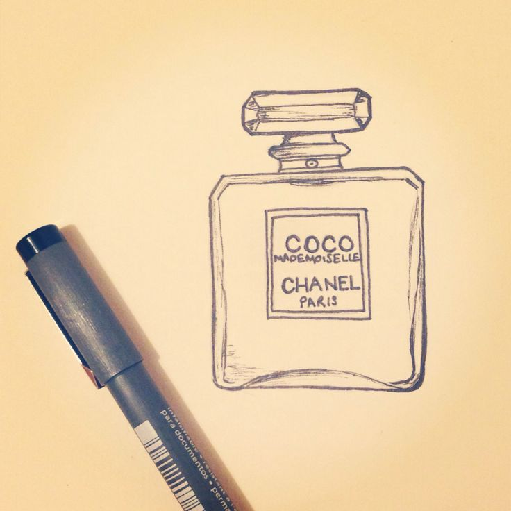 Pen art Chanel bottle