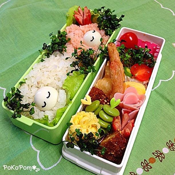 Twitter from @27huku27 今日のお弁当 #お弁当 #弁当 #lunch #bentou #obentou #bento #obentoart #羊 #ひつじ #sheep