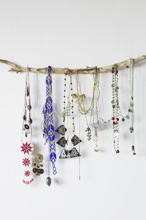 Branch jewelry display DIY. simple, yet effective. | Nicole Valentine Don
