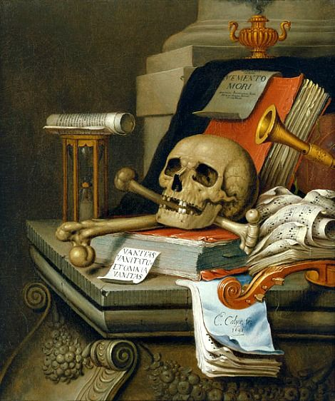 Edward Collier, Vanitas Still Life, 1693.