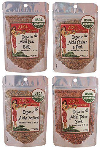 Organic Aloha Spice Company Seasoning & Rub Variety Set - http://goodvibeorganics.com/organic-aloha-spice-company-seasoning-rub-variety-set/