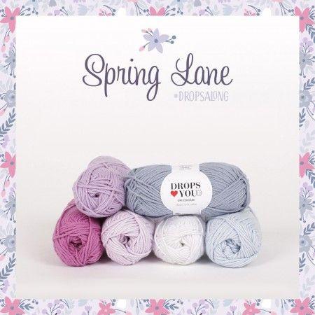 CAL Garnpakke - Spring Lane Teppe -  Drops Loves You #8 Drops garn