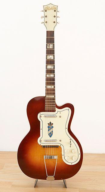 Vintage 1957 Silvertone Thin Twin Electric Guitar