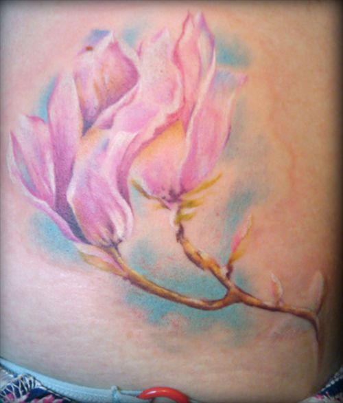magnolia foot tattoo - photo #38