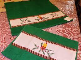 Resultado de imagen para toallas con motivos navideños