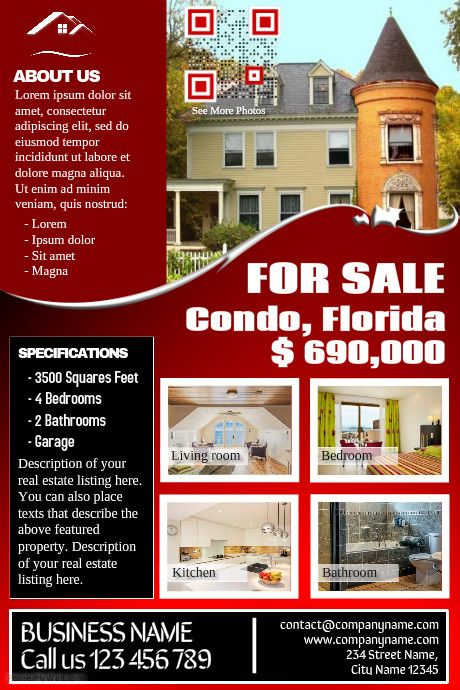 Best Real Estate Flyers Templates Images On   Real