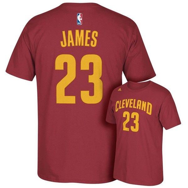 Adidas Cleveland Cavaliers LeBron James Tee ($29) ❤ liked on Polyvore featuring men's fashion, men's clothing, men's shirts, men's t-shirts, red, mens red t shirt, mens short sleeve t shirts, adidas mens shirts, mens patterned t shirts and mens short sleeve shirts