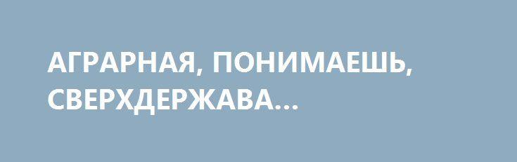 АГРАРНАЯ, ПОНИМАЕШЬ, СВЕРХДЕРЖАВА… http://rusdozor.ru/2016/12/27/agrarnaya-ponimaesh-sverxderzhava/  Вчера как набежит ко мне в комменты некий анонимный пидриот Руины типа с фамилией Sytarson (из пгт Дубно Ровенской области, так что там скорее всего в реале какой-нибудь Виктор Павлик или Орест Равлик), и как давай доказывать, что они, руинцы, ...