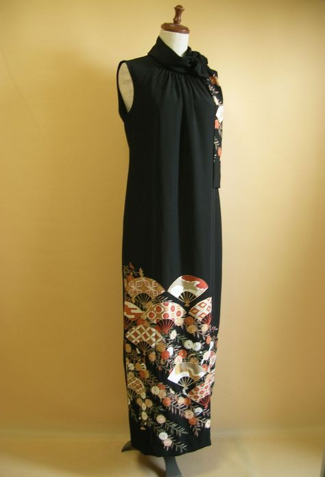 no.1177   フォーマルドレス(留袖ドレス)   着物ドレス 着物リメイクドレス販売の専門店 -YOKO YOSHIOKA-