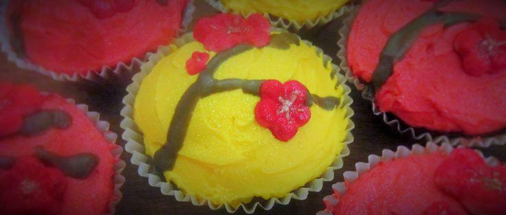 Chinese New Year Plum Blossom Cupcakes