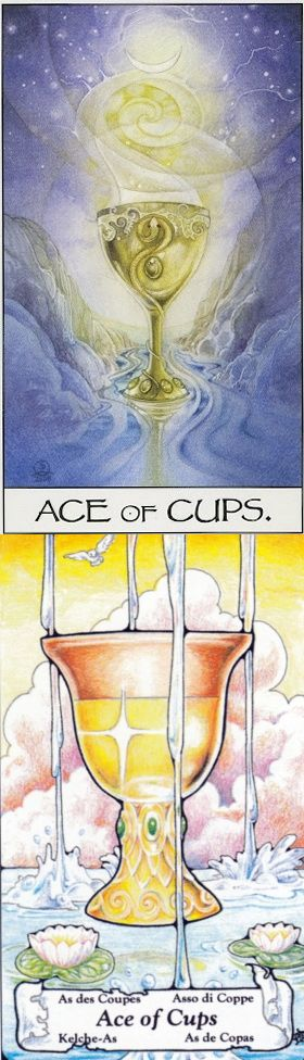 Ace of Cups: new love and wasted emotions (reverse). Mage Awakening Tarot deck and Hanson Tarot deck: tarotrobocat, daily tarot online vs best online tarot reading. New pagani zonda and tarot cards how to read. #pods #iosapp #halloweenparty