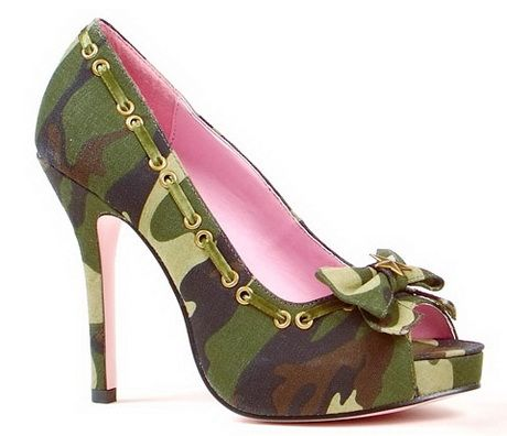 These Army camo high heel shoes are cute. Description from natalet.com. I searched for this on bing.com/images