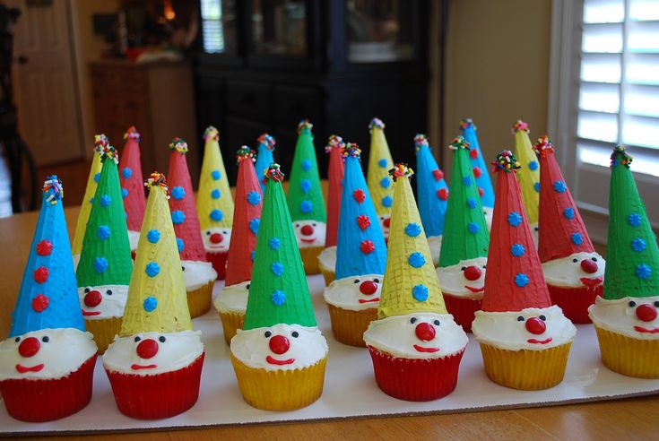 Homemade Carnival Cakes | Carnival Clown Cupcakes- Fun for kids