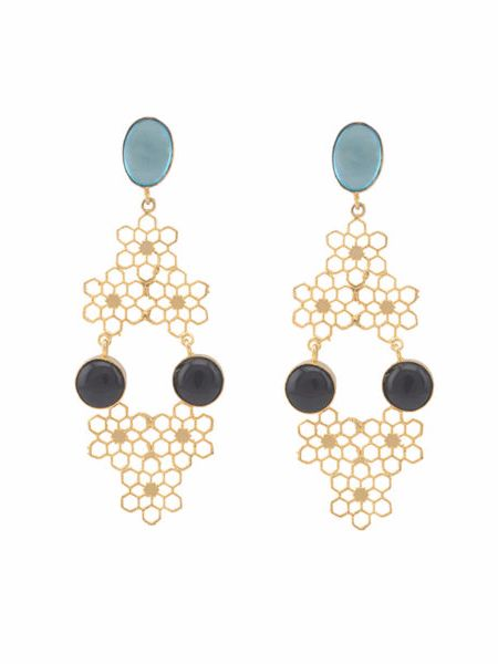 Asta – Honeycomb earrings