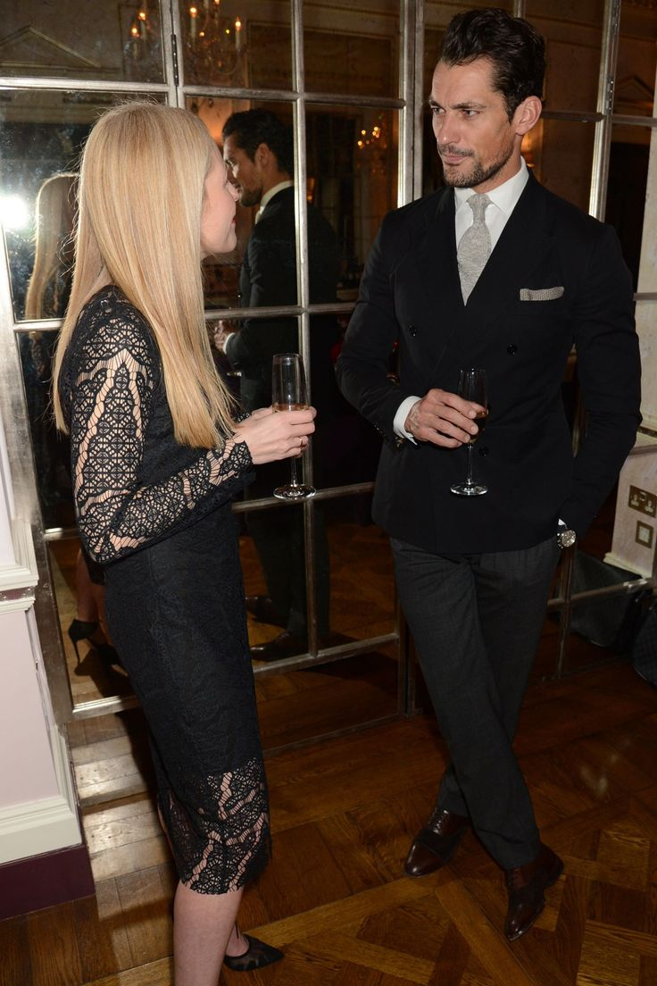 The Gandyman showing you how to appeal to the female demographic at the Bionda Castana Dinner at The Connaught Hotel, London: suit up in greyscale tailoring, slip into some dark brown shoes and crack open the champagne. See David Gandy's most stylish outfits ever.